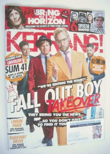 <!--2015-10-03-->Kerrang magazine - Fall Out Boy cover (3 October 2015 - Is
