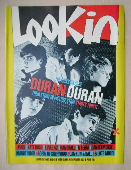 <!--1985-11-23-->Look In magazine - Duran Duran cover (23 November 1985)