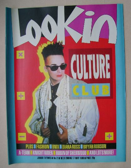 <!--1986-05-17-->Look In magazine - Boy George cover (17 May 1986)