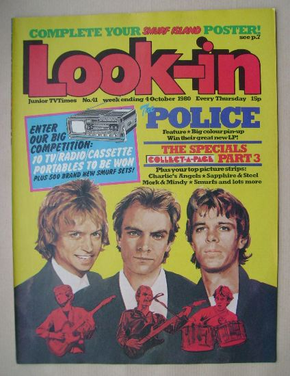 <!--1980-10-04-->Look In magazine - The Police cover (4 October 1980)