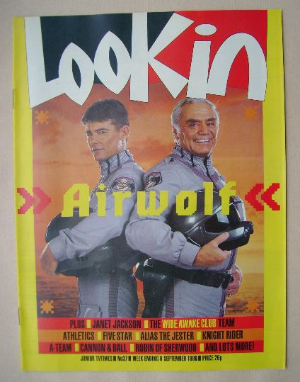 <!--1986-09-06-->Look In magazine - Jan-Michael Vincent and Ernest Borgnine