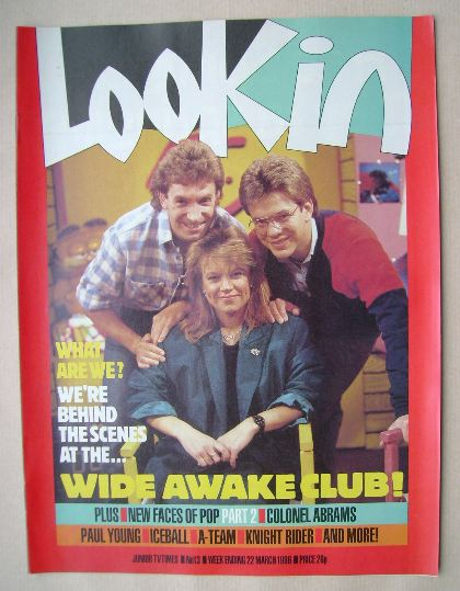 <!--1986-03-22-->Look In magazine - Wide Awake Club cover (22 March 1986)