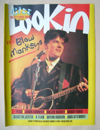 <!--1986-05-24-->Look In magazine - Dr Robert cover (24 May 1986)