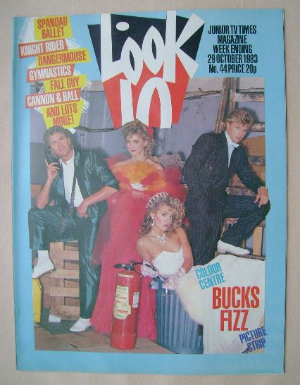 <!--1983-10-29-->Look In magazine - Bucks Fizz cover (29 October 1983)