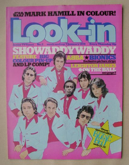 <!--1978-01-07-->Look In magazine - Showaddywaddy cover (7 January 1978)