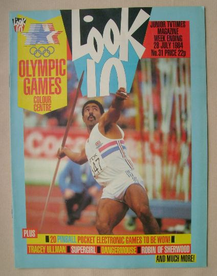 <!--1984-07-28-->Look In magazine - Daley Thompson cover (28 July 1984)