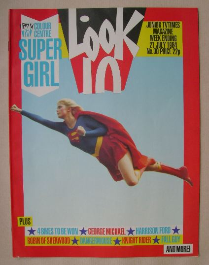 <!--1984-07-21-->Look In magazine - Supergirl cover (21 July 1984)
