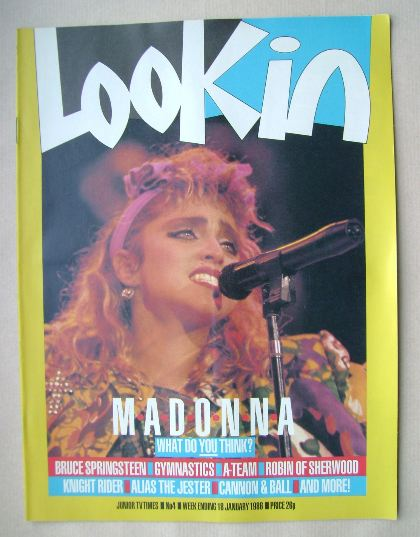 <!--1986-01-18-->Look In magazine - Madonna cover (18 January 1986)