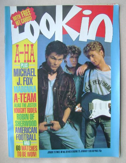 <!--1986-01-25-->Look In magazine - A-Ha cover (25 January 1986)