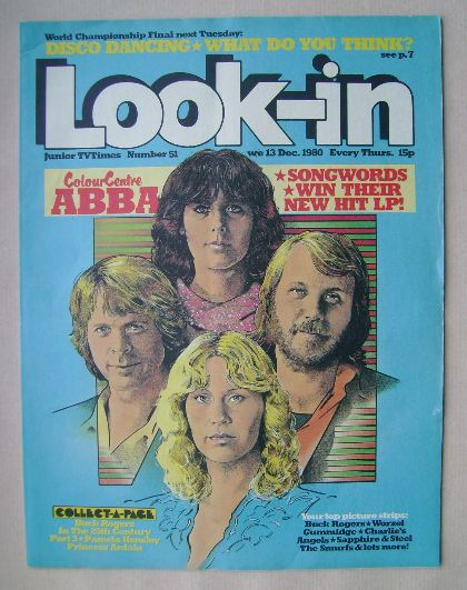 <!--1980-12-13-->Look In magazine - ABBA cover (13 December 1980)
