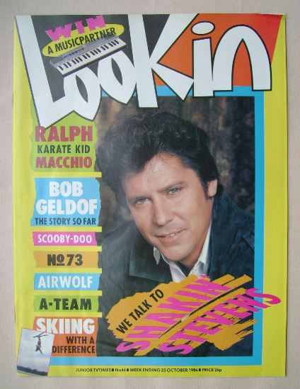 <!--1986-10-25-->Look In magazine - Shakin' Stevens cover (25 October 1986)