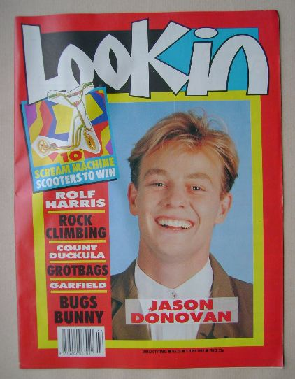 <!--1989-06-03-->Look In magazine - Jason Donovan cover (3 June 1989)