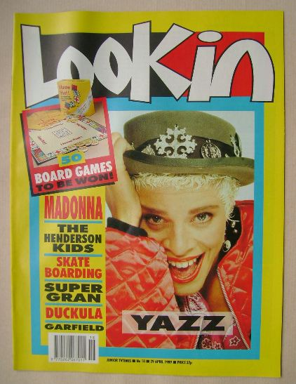 <!--1989-04-29-->Look In magazine - Yazz cover (29 April 1989)