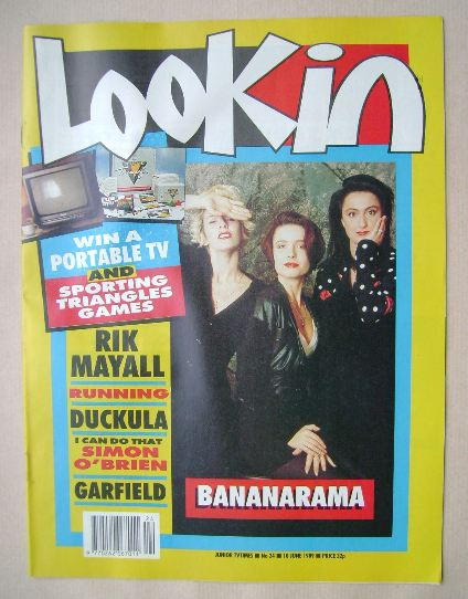 <!--1989-06-10-->Look In magazine - Bananarama cover (10 June 1989)