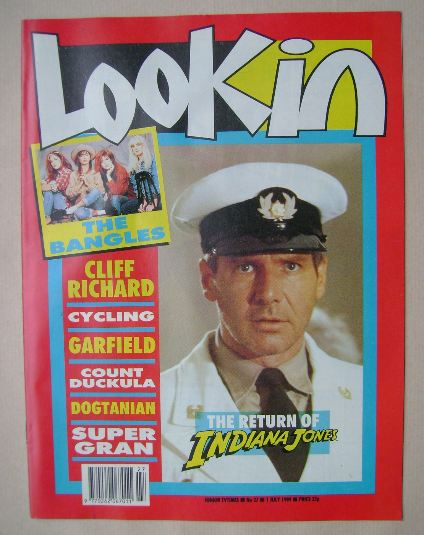 <!--1989-07-01-->Look In magazine - Harrison Ford cover (1 July 1989)