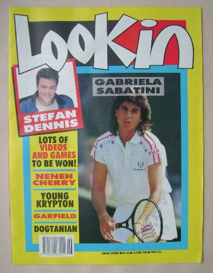 <!--1989-06-24-->Look In magazine - Gabriela Sabatini cover (24 June 1989)