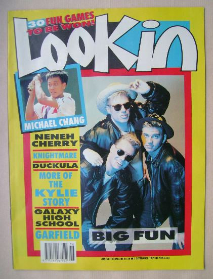 <!--1989-09-02-->Look In magazine - Big Fun cover (2 September 1989)