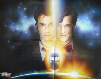 David Tennant / Matt Smith Doctor Who poster / 2010 planner
