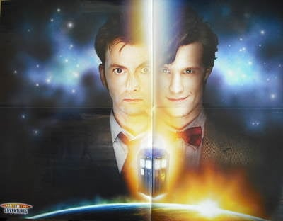 David Tennant / Matt Smith Doctor Who poster / 2010 planner