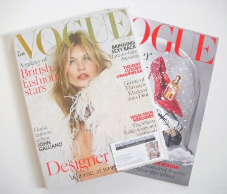 <!--2013-12-->British Vogue magazine - December 2013 - Kate Moss cover