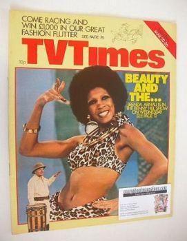 TV Times magazine - Brenda Arnau cover (20-26 March 1976)