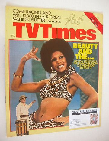 <!--1976-03-20-->TV Times magazine - Brenda Arnau cover (20-26 March 1976)
