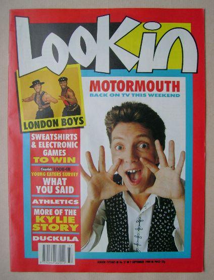 <!--1989-09-09-->Look In magazine - Neil Buchanan cover (9 September 1989)