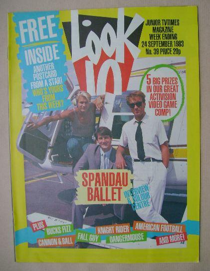 <!--1983-09-24-->Look In magazine - Spandau Ballet cover (24 September 1983
