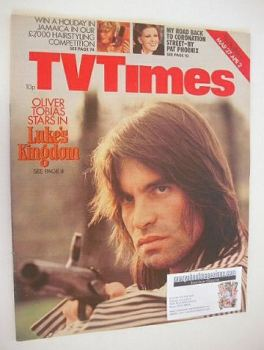 TV Times magazine - Oliver Tobias cover (27 March - 2 April 1976)