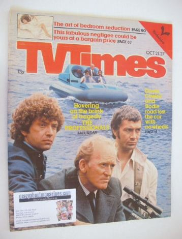 <!--1978-10-21-->TV Times magazine - The Professionals cover (21-27 October