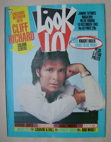 <!--1983-12-10-->Look In magazine - Cliff Richard cover (10 December 1983)