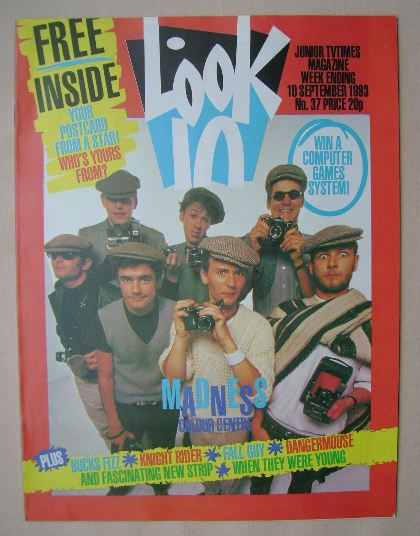 <!--1983-09-10-->Look In magazine - Madness cover (10 September 1983)