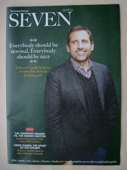 <!--2013-06-23-->Seven magazine - Steve Carell cover (23 June 2013)