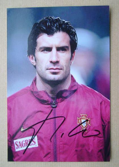Luis Figo autograph