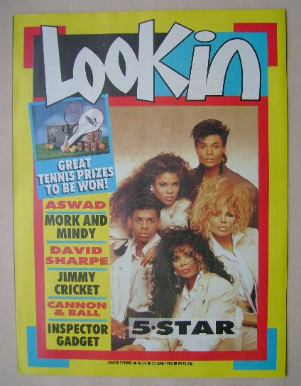 <!--1988-06-25-->Look In magazine - 5-Star cover (25 June 1988)