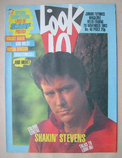 <!--1983-11-26-->Look In magazine - Shakin' Stevens cover (26 November 1983