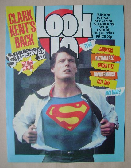 <!--1983-07-16-->Look In magazine - Christopher Reeve cover (16 July 1983)