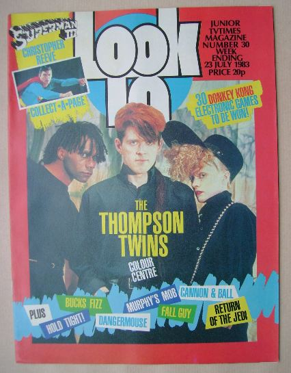<!--1983-07-23-->Look In magazine - Thompson Twins cover (23 July 1983)