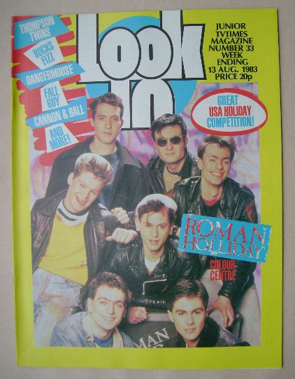<!--1983-08-13-->Look In magazine - Roman Holliday cover (13 August 1983)