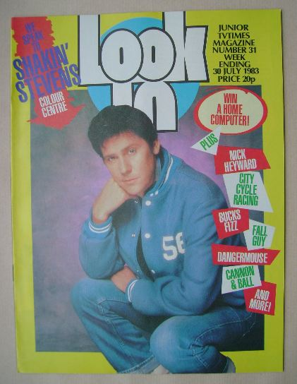 <!--1983-07-30-->Look In magazine - Shakin' Stevens cover (30 July 1983)