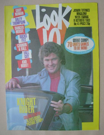 <!--1983-10-08-->Look In magazine - David Hasselhoff cover (8 October 1983)