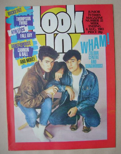 <!--1983-08-06-->Look In magazine - Wham! cover (6 August 1983)