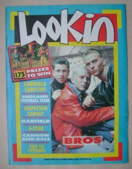 Look In magazine - Bros cover (18 June 1988)