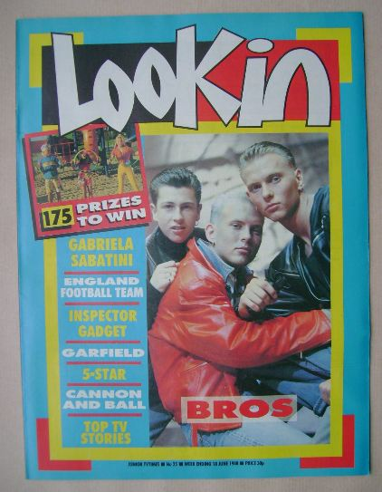 <!--1988-06-18-->Look In magazine - Bros cover (18 June 1988)