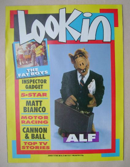 <!--1988-07-09-->Look In magazine - ALF cover (9 July 1988)