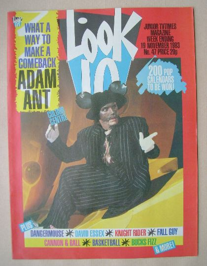 <!--1983-11-19-->Look In magazine - Adam Ant cover (19 November 1983)