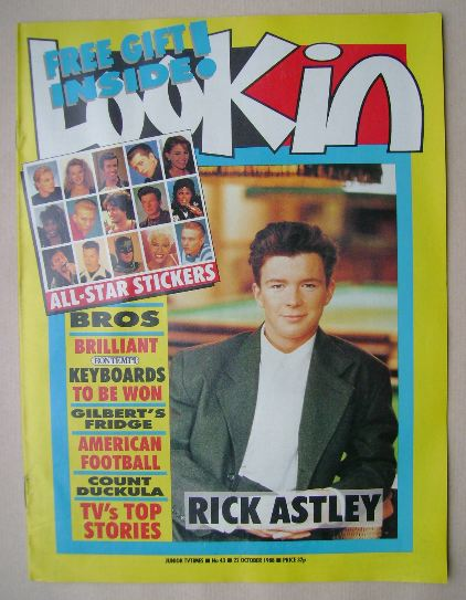 <!--1988-10-22-->Look In magazine - Rick Astley cover (22 October 1988)