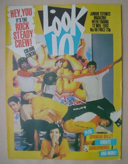 <!--1983-11-12-->Look In magazine - Rock Steady Crew cover (12 November 198