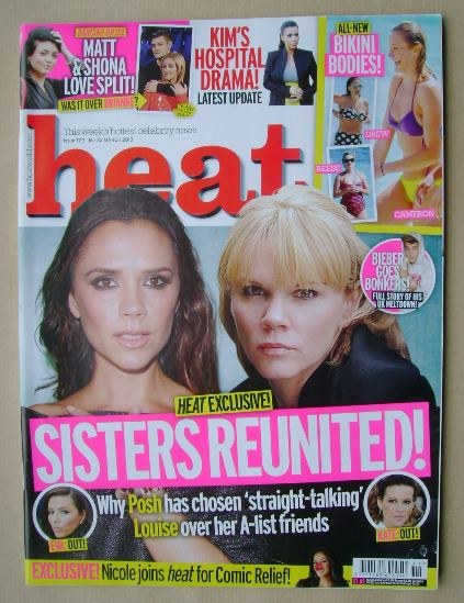 <!--2013-03-16-->Heat magazine - Victoria Beckham and Louise Adams cover (1