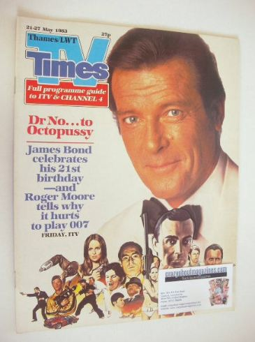 <!--1983-05-21-->TV Times magazine - Roger Moore cover (21-27 May 1983)